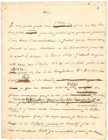 François-René de CHATEAUBRIAND. Manuscrit...
