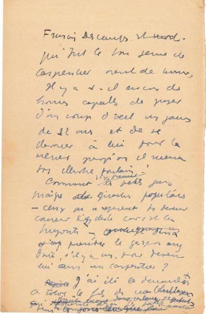 Jean ANOUILH. Manuscrit en partie autographe...