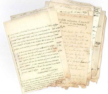 Famille de CHATEAUBRIAND. 98 lettres, la...