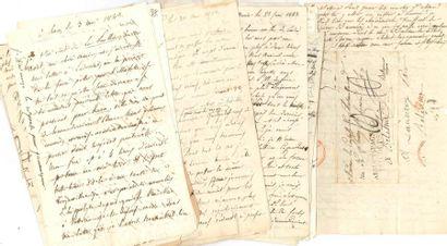 Louis de CHATEAUBRIAND. 64 L.A. (dont 6 signées,...
