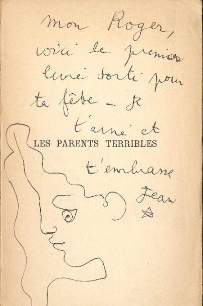 Jean COCTEAU (1889-1963). P.A.S. avec dessin...