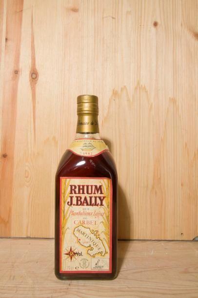 1 B, RHUM LAJUS DU CARBET (clm.a. et scotchée), Bally, 1982.