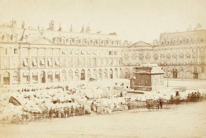 Paris incendié, 1871. Album historique. Colonne...