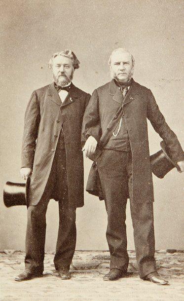 Portraits d'hommes au chapeau, c. 1860-1880....