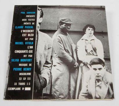 PIERRE HENRY « L'Occident Est Bleu » Label...