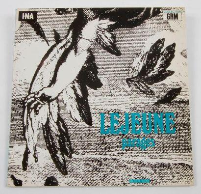 JACQUES LEJEUNE « Parages » Label INA-GRM...