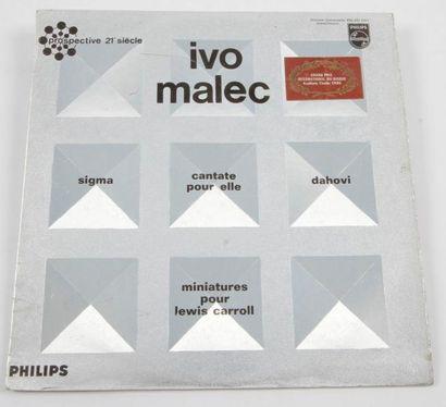 IVO MALEC « Sigma » Label Philips 836 891...