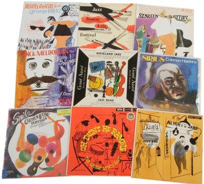 DAVID STONE MARTIN Ensemble de 9 pochettes....