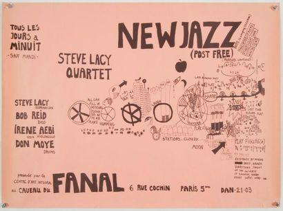 STEVE LACY Affiche de concert originale....
