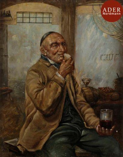 D. ABRAHAMSON (XXe siècle) Juif au verre...