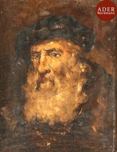 ÉCOLE DU XIXe SIÈCLE Portraits de rabbin...