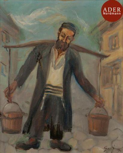 David GARFINKIEL (1902-1970) Le porteur d'eau...