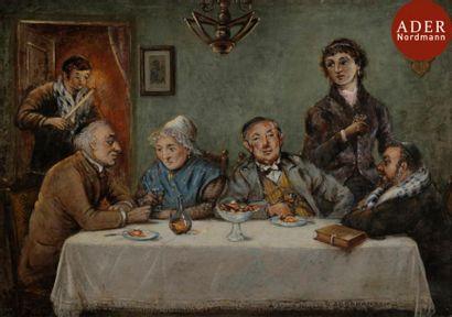 D. ABRAHAMSON (XXe siècle) Fête familiale...