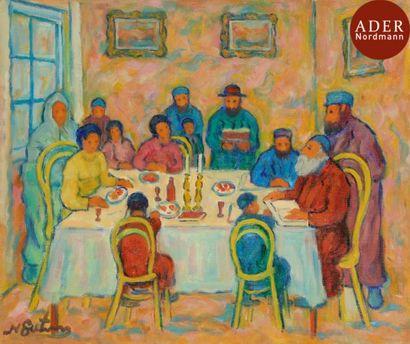 Nathan GUTMAN (1914-1978) Table du Shabbat...
