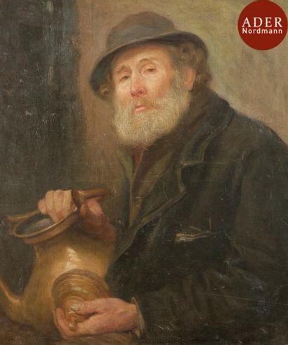 Jozef ISRAELS (1824-1911) Portrait d'homme...