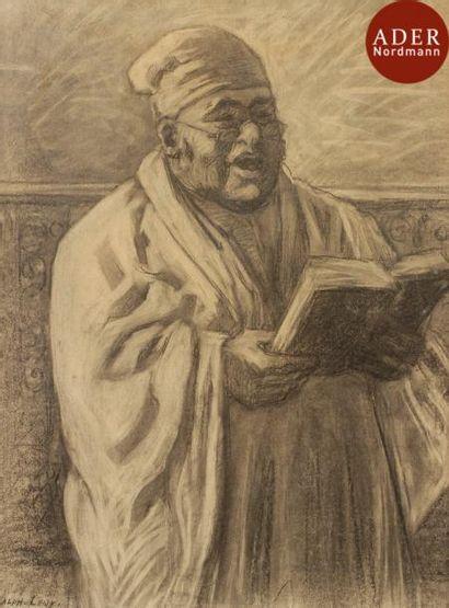 Alphonse LEVY (1843-1918) Rabbin en prières...