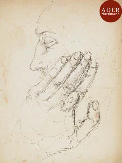 MANé-KATZ (Attribué à) (1894-1962) Visage...