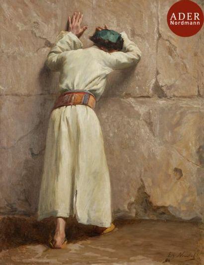 Edouard NOULET (1873-?) Juif devant le mur...