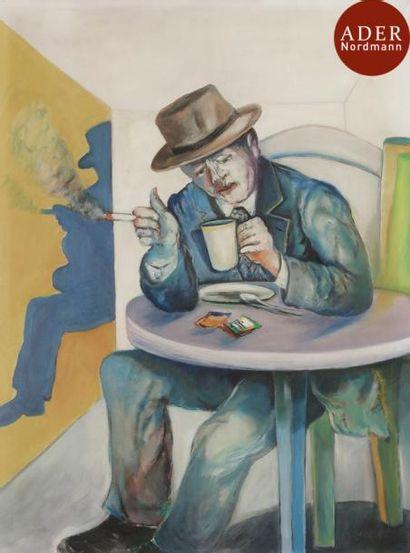 Shaoul SMIRA (né en 1939) Café au lait Huile...