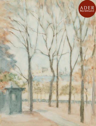 BENN (1905-1989) Chemin arboré, 1925 Dessin...