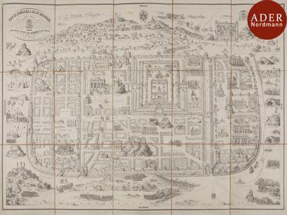 [VUE DE JÉRUSALEM] André DUPRÉ Plan de Jérusalem...
