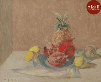 BENN (1905-1989) Nature morte aux citrons,...