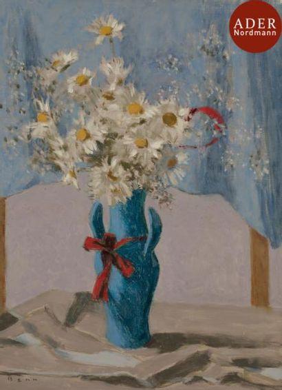 BENN (1905-1989) Marguerites dans un vase...