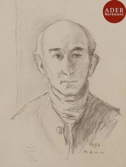 BENN (1905-1989) Portrait de Joseph, 1987...