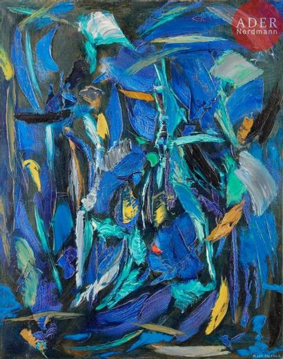Oscar GAUTHIER (1921-2009) Composition CH-ZZN,...