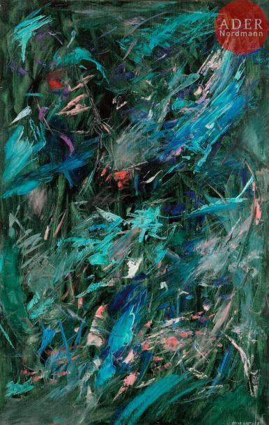 Oscar GAUTHIER (1921-2009) Le Jardin de Monsieur...