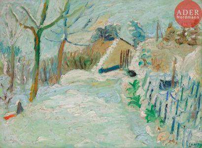 André LANSKOY [russe] (1902-1976) Paysage...