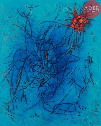 Gustave SINGIER (1909-1984) Baigneuse sirène,...