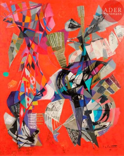Pierre de BERROETA (1914-2004) Composition,...