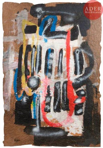 Ladislas KIJNO (1921-2012) Composition Peinture...