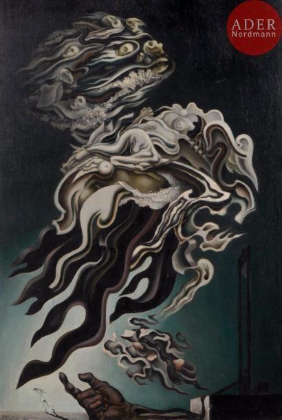 Félix DEL MARLE (1889-1952) Composition surréaliste,...
