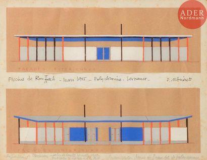 Félix DEL MARLE (1889-1952) Projet pour le...
