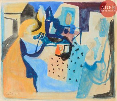 Maurice ESTèVE (1904-2001) Conversation,...
