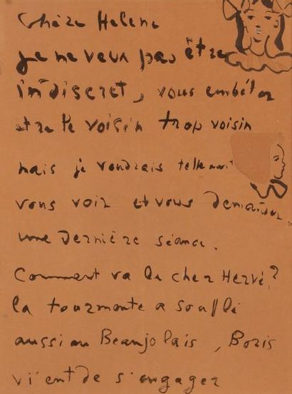 Christian BÉRARD (1902-1949). L.A.S. avec...
