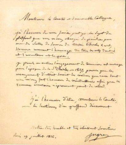 Jean-Dominique INGRES (1780-1867). L.A.S.,...
