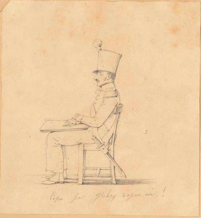 Jean-Baptiste ISABEY (1767-1855). Dessin...