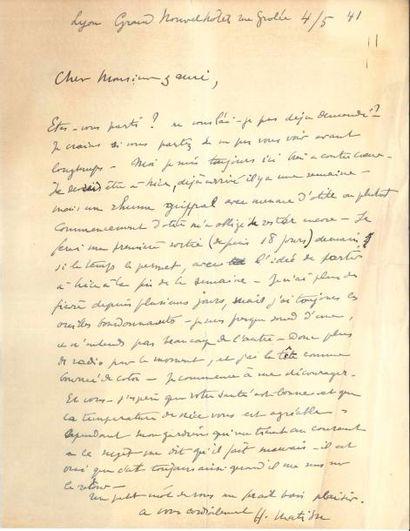 Henri MATISSE (1869-1954). L.A.S., Lyon 4...