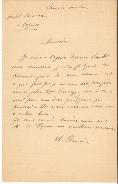 Aline RENOIR, née Charigot (1859-1915) épouse...
