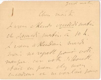 Henri de Toulouse-Lautrec (1864-1901). L.A.S.,...