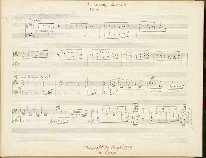 Claude ARRIEU (1903-1990). Manuscrit musical...