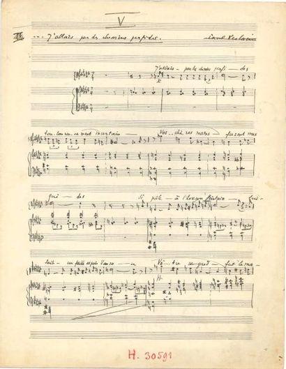 Tony AUBIN (1907-1981). 2 manuscrits musicaux...