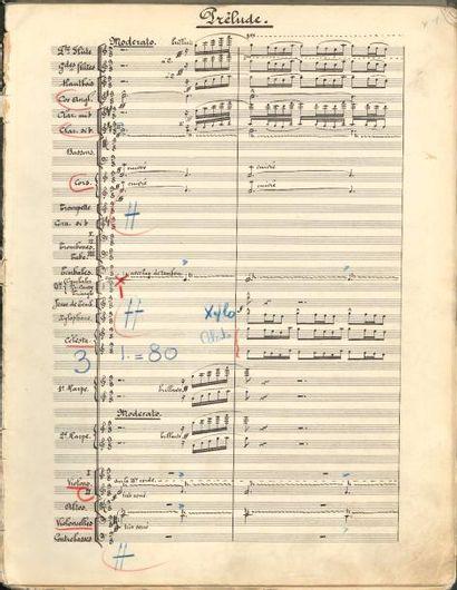 Georges AURIC (1899-1983). Manuscrit musical,...