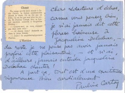 Pauline CARTON (1884-1974) comédienne. 7...