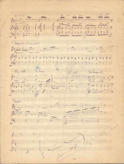 Georges CAUSSADE (1873-1936). Manuscrit musical...