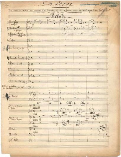Gustave CHARPENTIER (1860-1956). Manuscrit...