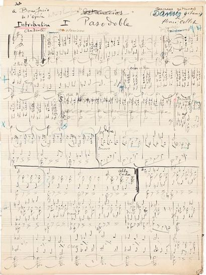 Henri COLLET (1885-1951). Manuscrit musical...